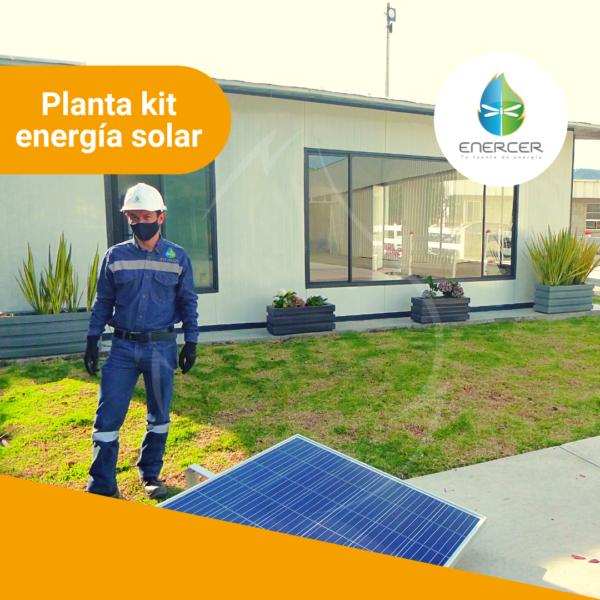 Planta kit energía solar